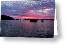 Isle Royale Belle Isle Dawn Greeting Card