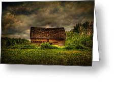 Isolated Barn Greeting Card