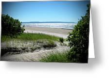 Isolated Beach Greeting Card