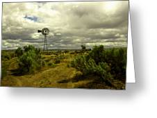Isolated Windmill Greeting Card