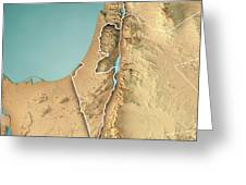 Israel Country 3d Render Topographic Map Border Wood Print By Frank