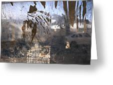 Israel, Jerusalem Abstract Of A Window Greeting Card