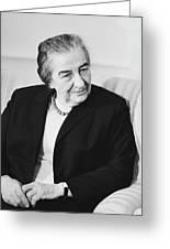 Israel Prime Minister Golda Meir 1973 Greeting Card