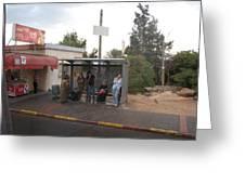 Israeli Bus Stop Greeting Card