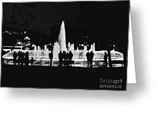 Istanbul Fountain Lights Greeting Card