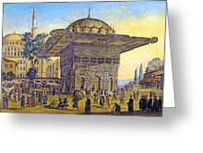 Istanbul Outdoor Bazaar Greeting Card
