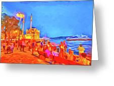 Istanbul Pop Art Greeting Card