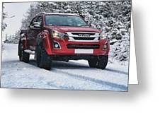 Isuzu In The Snow Greeting Card