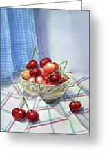 It Is Raining Cherries Greeting Card