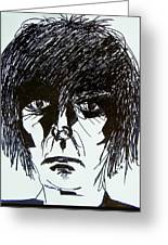 It Takes A Worried Man Greeting Card by Judith Redman