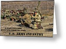 It Wasn't Our Book - Us Army Infantry Greeting Card
