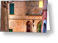 Italian Alley Greeting Card by Silvia Ganora