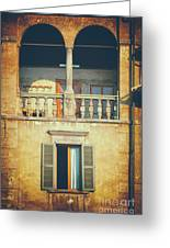 Italian Arched Balcony Greeting Card