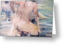 Italian Bathers 2 Greeting Card