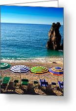 Italian Beach Scene Greeting Card