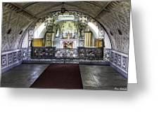 Italian Chapel Interior Greeting Card