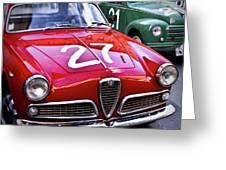 Italian Classics Alfa Romeo Greeting Card