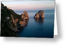 Italian Cliffs Greeting Card