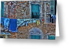 Italian Clothes Dryer Greeting Card