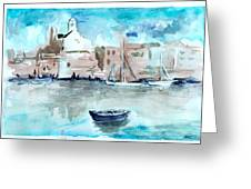 Italian Coast  Greeting Card by Alexandra-Emily Kokova