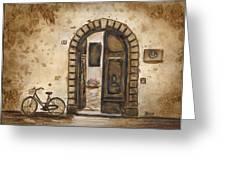 Italian Coffee Break Greeting Card by Dianne  Ilka