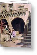 Italian Courtyard Henryk Semiradsky Greeting Card