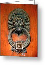 Italian Door Knocker Greeting Card by Jen White