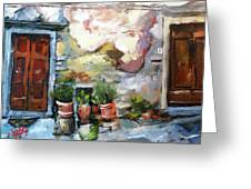 Italian Doors Greeting Card