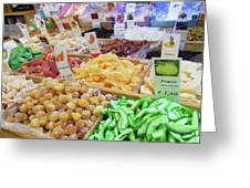 Italian Farmers Market Dried Fruits Greeting Card