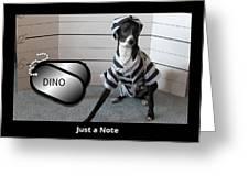 Italian Greyhound Bad Boy Greeting Card