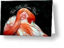 Italian Happy Mothers Day Flamingo Greeting Card