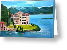 Italian Landscape-casino Royale Greeting Card