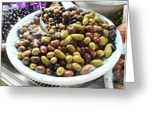 Italian Market Olives Greeting Card