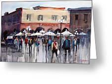 Italian Marketplace Greeting Card