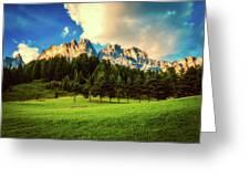 Italian Mountain Meadow Greeting Card