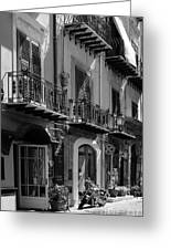 Italian Street In Black And White Greeting Card by Stefano Senise
