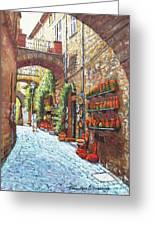 Italian Street Market Greeting Card