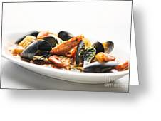 Italian Traditional Seafood Stew  Greeting Card