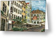 Italian Village 1 Greeting Card
