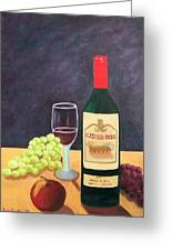 Italian Wine And Fruit Greeting Card