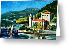 Italy - Lake Como - Villa Balbianello Greeting Card