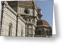 Italy, Florence, Facade Of Duomo Santa Greeting Card