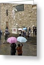 Italy, Florence, Piazza Della Signora Greeting Card