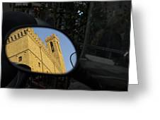 Italy, Florence, Reflection In Mirror Greeting Card