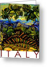 Italy Graphics Greeting Card