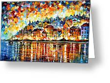 Italy Harbor Greeting Card