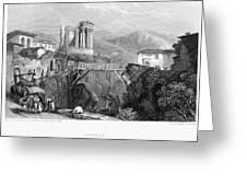 Italy: Tivoli, 1832 Greeting Card