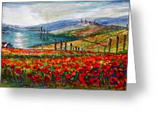 Italy Tuscan Poppies Greeting Card