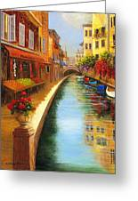 Italys Canal Street  Greeting Card