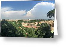 Iter Romam Via Ianiculum Greeting Card